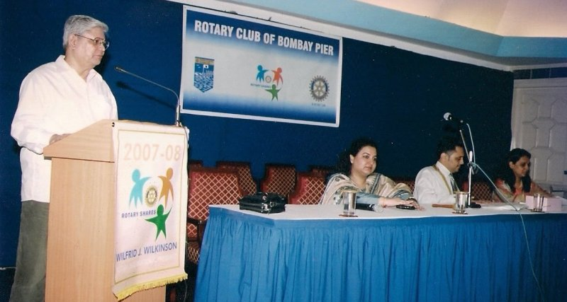 Dr Asis Ganguli at Rotary Club